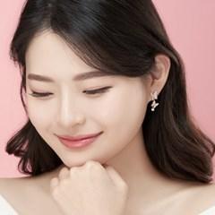 14K 스프링타임 골드핀 귀걸이(핑크골드)