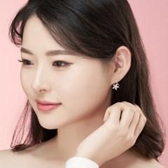 14K 플로리 골드핀 귀걸이(핑크골드)
