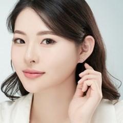 14K 플라워데코 골드핀 귀걸이(핑크골드)