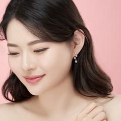 14K 플라워티 골드핀 귀걸이(핑크골드)