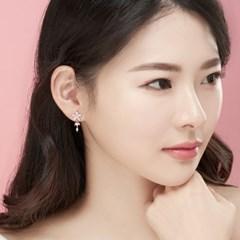 14K 스프리그 골드핀 귀걸이(핑크골드)