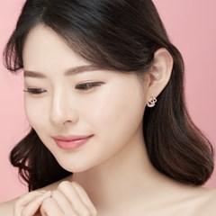 14K 클로아 골드핀 귀걸이(핑크골드)