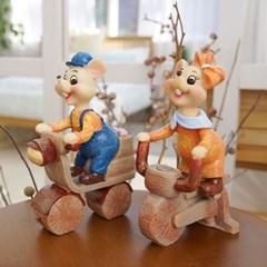 자전거 타는 생쥐 커플 2P