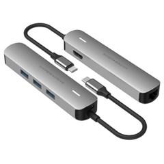 [해외직구] 하이퍼드라이브 6in1 USB-C단자 멀티 허브