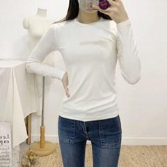 마쉬옐로우 얼반 베이직 라운드 긴팔 티셔츠