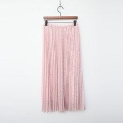 Lace Pleats Long Skirt