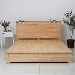 [야테카오리] 피톤치드 편백나무 꿀잠 침대 서랍형(Q)