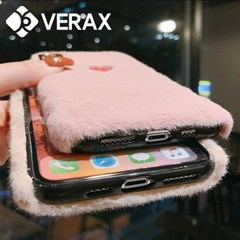 아이폰8 러블리 하트 퍼 따뜻한 젤리 케이스 P485_(2445953)