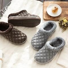 뉴퀼팅 보온샌들 털슬리퍼 겨울 방한 신발