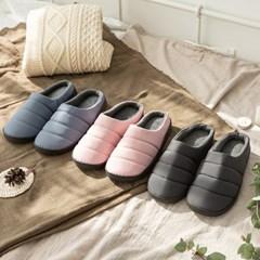 뉴 엠보 패딩 털 슬리퍼 겨울 거실화 방한 신발