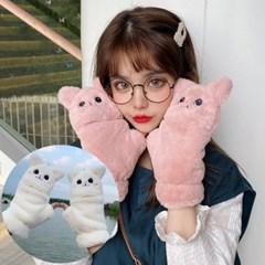 로키 고양이 벙어리 겨울 털장갑_(2324622)