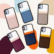 스매스 아이폰11 보호 카드케이스 씨원 리버스_네이비/오렌지