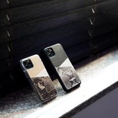 스매스 아이폰XS/X 보호 가죽 카드케이스 오원_블랙(파이톤)