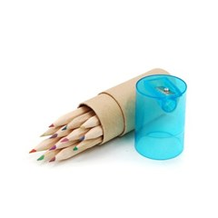 12색 색연필 + 연필깎이세트/학교납품용 학원판촉용