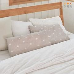 [수면공감] 우유베개 키즈 알러지케어 달패턴 항균 베개커버
