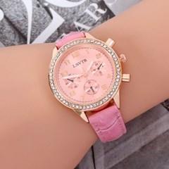 스울디 크리스탈 손목시계 /패션시계 가죽손목시계