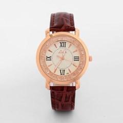 넬슈 여성 손목시계(브라운) /패션시계 가죽손목시계