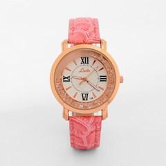 넬슈 여성 손목시계(핑크) /패션시계 가죽손목시계