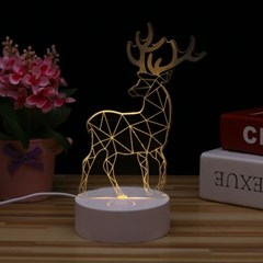 LED 사슴 무드등 /아크릴 LED취침등