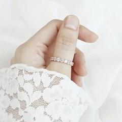 [디유아모르] 18k 반지 라운드큐빅 링_(1086407)