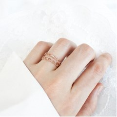 [디유아모르] 18k 반지 트위스트레이어드 링_(1086401)