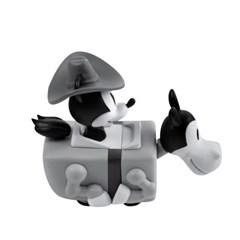 [비스트킹덤]미키마우스 카우보이 풀백 미니카 피규어 90주년 흑백