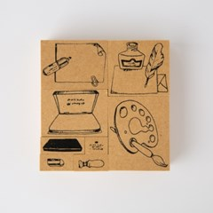 [OURS] Stationary No.1 DIY Stamp Set