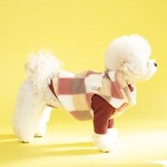 레모나 양털 조끼 - 피치