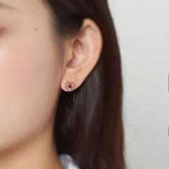 로맨틱 하트 큐빅 귀걸이