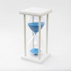 화이트원목 인테리어 모래시계(30분)/ 유리모래시계