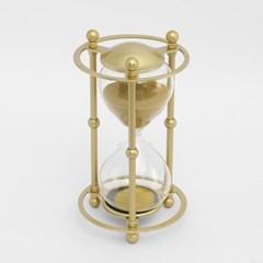 골드메탈 모래시계(30분) / 포인트 인테리어장식품