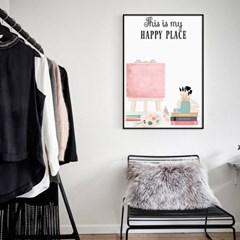 모던 거실 인테리어 아이방 그림 액자 포스터 행복한 공간
