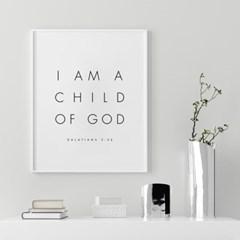 성경 말씀 액자 인테리어 포스터 갈라디아서 3장 26절