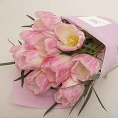 꽃선물 핑크튤립 꽃다발 (생화, 전국택배)