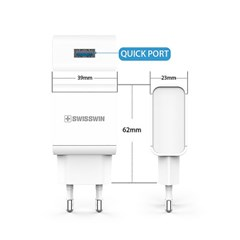 스위스윈 USB 1포트 급속 충전기(C타입)(9V 1.67A)