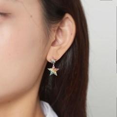 레인보우 스타 귀걸이
