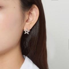핑크 스타큐빅 귀걸이