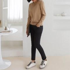 여성 심플 부드러운 브이넥 얇은 니트 티셔츠