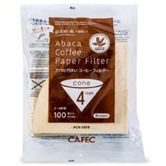 카펙 아바카 종이 커피 필터 2-4인용 100매 브라운_(1280505)