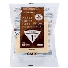 카펙 아바카 종이 커피 필터 1-2인용 100매 브라운_(1280504)