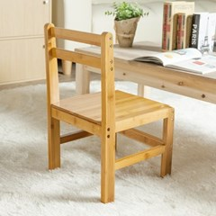 사각 등받이 원목의자/인테리어용 아동용 나무의자