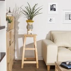 70cm 원목 사각 선반 겸 의자/인테리어 홈바의자