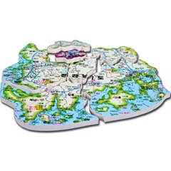 아주 특별한 우리나라 지도 퍼즐 167PCS 재밌는 도전