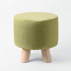 꼬마 패브릭 스툴(그린)/인테리어 원형 미니의자