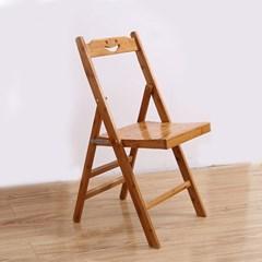 스마일 대나무 소형 등받이의자/접이식 나무의자