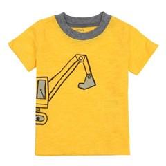 포크레인 반팔 티셔츠 옐로우_121I135