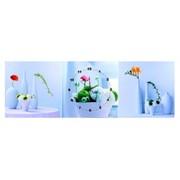 인테리어 플라워고급벽시계 / 미술작품병풍시계