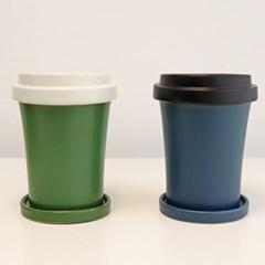 미니 사이즈 센스있는 커피잔 화분 2color