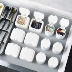 [아토소] 원터치 소품 수납 정리함 화장솜 면봉 케이스