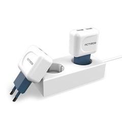 엑티몬 USB 2포트 가정용충전기(8핀C타입2.1A)